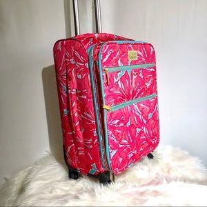 Lilly Pulitzer Rare rolling carry on luggage NEW
